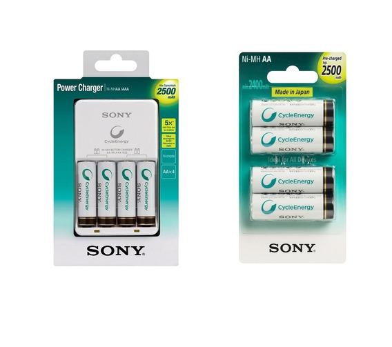 Kit 8 Pilhas Aa Recarregável Sony+carregador Original Xbox