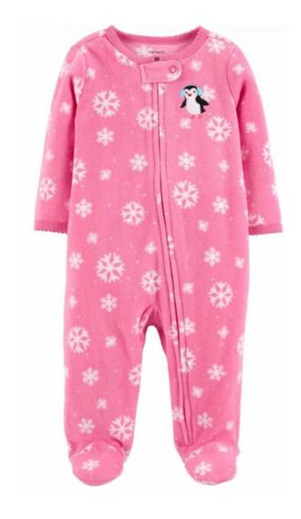 Macacão Tip Top Fleece Plush Menina Infantil Bebê Carters 6m