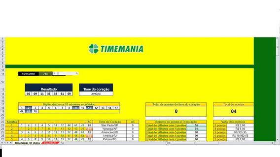 Timemania Jogue Fácil 18 Dz 38 Jogos +brinde Lotofácil L