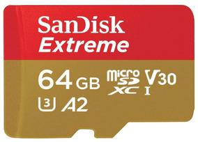 Cartao Sandisk Micro Sdxc 160mb/s 64gb Video 4k Gopro Hero6
