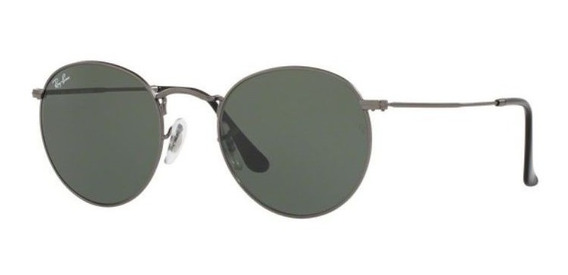 Oculos Sol Ray Ban Round Metal Rb3447 029 53mm Grafite Verde
