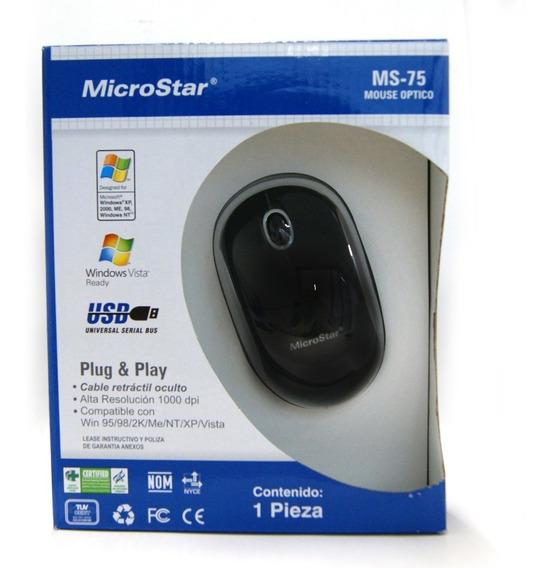 Mouse Optico Microstar Ms-75 Envío Express