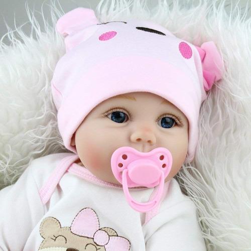 Reborn Bebé Muñeca Bebe Real Con Accesorios 55cm