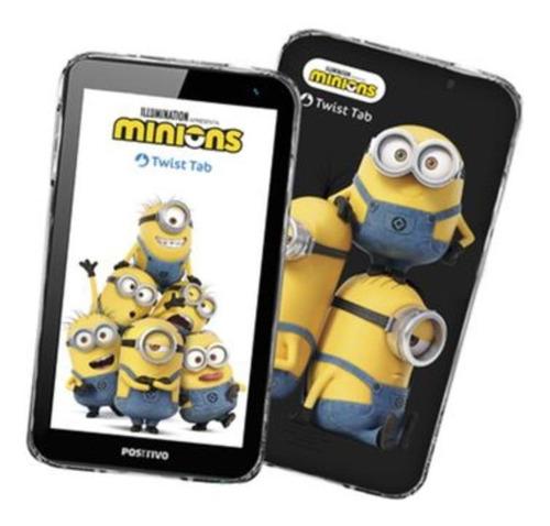 """Imagem 1 de 3 de Tablet  Positivo Twist Tab Minions T770KM 7"""" 32GB preto com 1GB de memória RAM"""