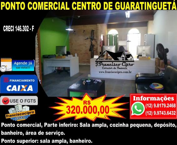 Ponto Comercial A Venda No Bairro Centro Em Guaratinguetá - - Pc105-1