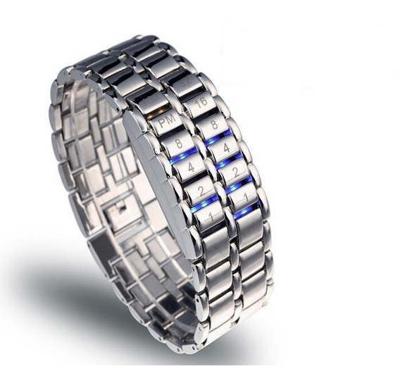 Relógio Masculino Prata Pulso Led Display Digital + Promoção