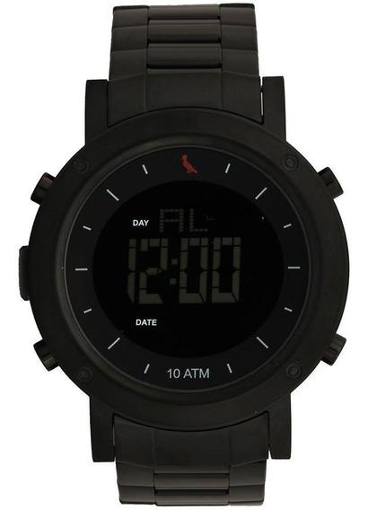 Relógio Reserva Digital Masculino - Rebjk014aa - Cor Preto