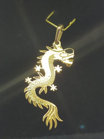 Pingente Dragão 25x12mm Tamanho Ouro 18k 0.84 Gramas!