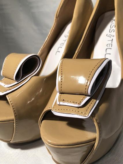 Zapatos De Taco Y Plataforma De Charol
