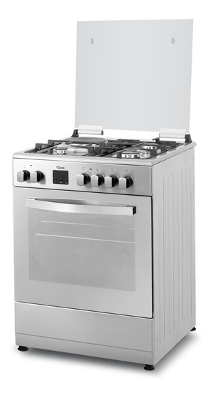Cocina Tem 1 Disco Horno Eléctrico Turbo Combinada Acero