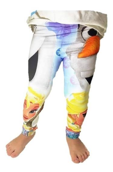 Calza Frizada Estampada Frozen Elsa Olaf Disney Niña