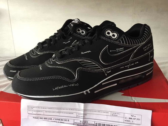 Air Max 1 sketch To Shelf Black