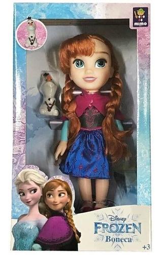 Imagem 1 de 1 de Boneca Anna Passeio Com Olaf Frozen 6488 Mimo