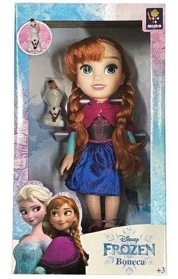 Boneca Anna Passeio Com Olaf Frozen 6488 Mimo