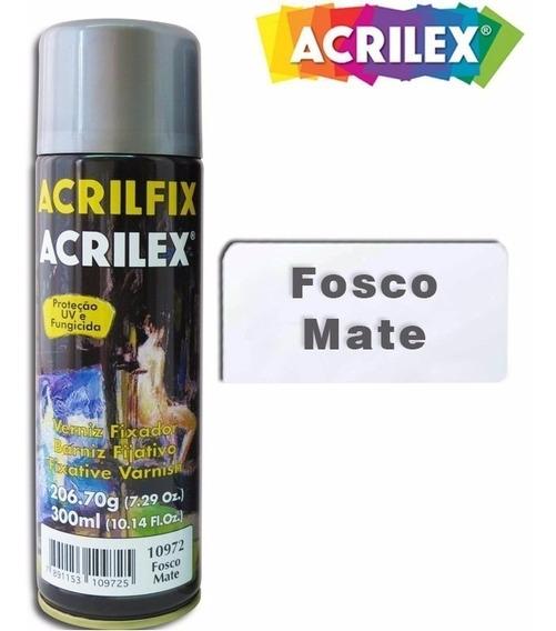 Kit C/02 Acrilfix Spray Verniz Fixador Fosco 300ml -promoção