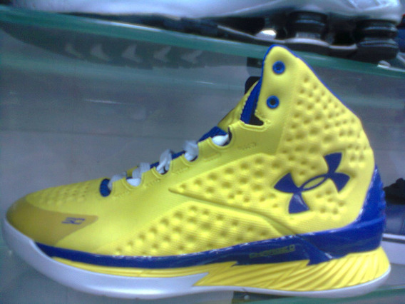 Tenis Ua Stephen Curry Amarelo E Azul Nº42 Original!!!