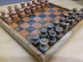 Jogo De Xadrez Em Pedra Sabão