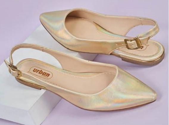 Zapato Casual Flats Color Oro 631-18 Cklass Urban 2-19 E