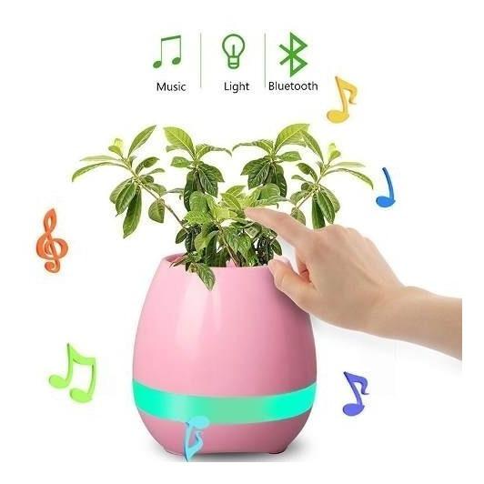 Maceta Parlante Florero Luminosa Bluetooth Regalo Empresas