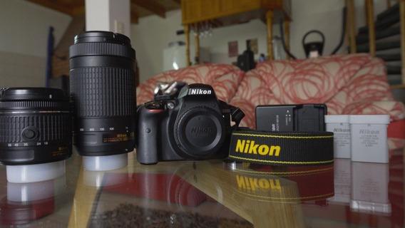 Cámara Nikon D3300+ 2 Lentes+2 Baterías Y Cargador +estuche