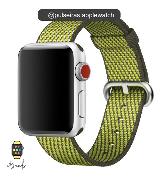 Pulseira Nylon Fivela Apple Watch Várias Cores
