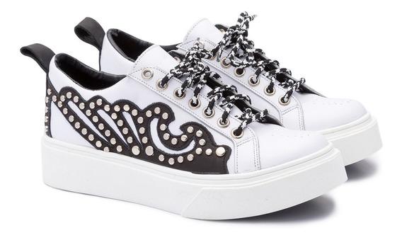 Zapatillas Moda Glam 100% Cuero Art:milan Tallon