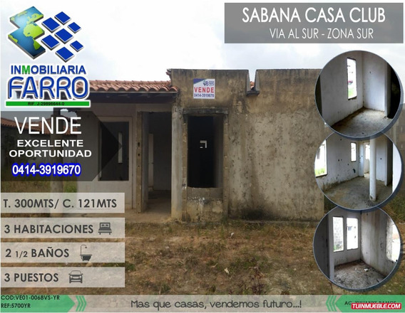 Venta De Casa Urb. Sabana Casa Club Ve01-0068vs-yr