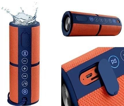 Caixa De Som Multilaser Sp246 Speaker 15w Laranja Pulse