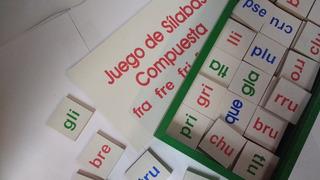 Silabas Compuestas Letras En Madera Lectura Juego Didáctico