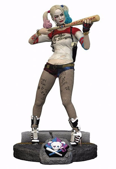 Harley Quinn Estatua Find Keepers Com Chaveiro