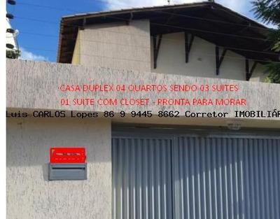 Casa Duplex Para Venda Em Teresina, Gurupi, 4 Dormitórios, 3 Suítes, 4 Banheiros, 2 Vagas - Casa Duplex Gurupi Nova