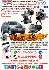 Reparacion De Turbo Diesel Hyundai Santa Fe 2.0 D4ea/td25m