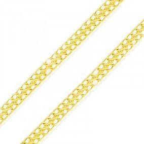 Corrente Lacraia Ouro 18k 50cm 4mm De Espessura 4.5g