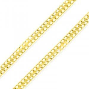 Corrente Lacraia Ouro 18k 50cm 3mm De Espessura 2,7g