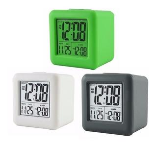 Despertador Eurotime Digital Cubo De Silicona Con Sensor