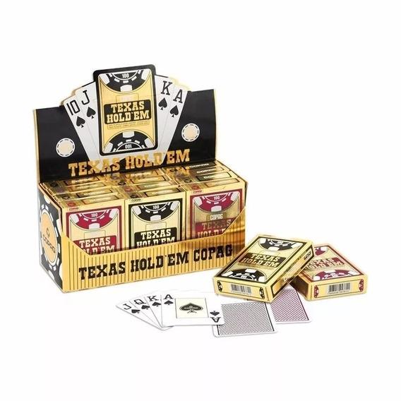 Kit Com 12 Baralho Plastico Copag Texas Hold´em Poker