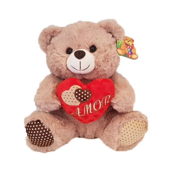 Ursinho De Pelúcia 30cm Com Coração Amor - Fizzy