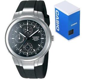 Reloj Casio Edifice Ef305 Caucho Triple Fechador
