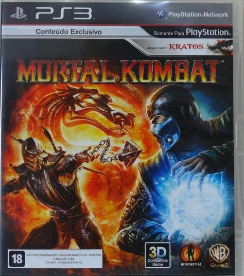 Jogo De Ps3 Mortal Kombat Em Mídia Física