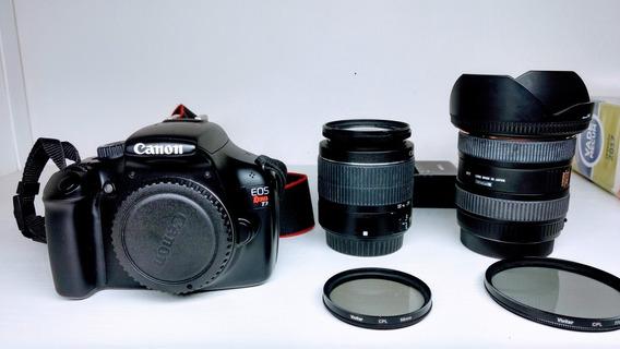 Canon Rebel T3 Novinha + Lentes E Acessórios