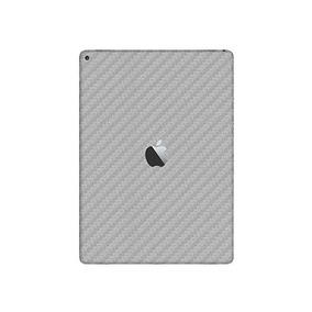 Skin Pelicula Fibra Carbono Prateado Traseira Novo iPad 9.7