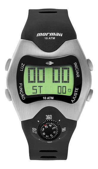 Relógio Digital Mormaii Bússola Prata Mo1324ab/1p