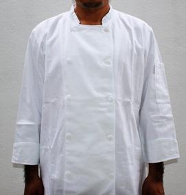 Filipina Para Chef 100 % Algodón Color Blanco, Manga Larga