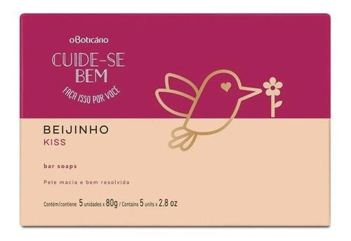 Cuide-se Bem Sabonete Em Barra Beijinho, 5 Unidades De 80 G