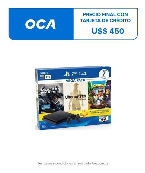 Playstation 4 Ps4 1tb + 7 Juegos + Ps Plus Macrotec