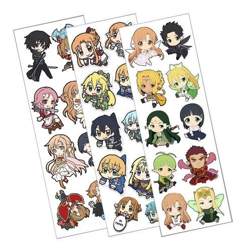 Plancha De Stickers De Anime De Sword Art Online Asuna