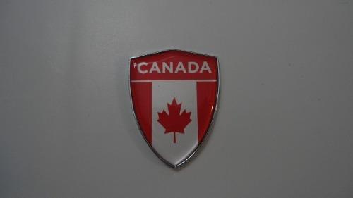 Emblemas Escudo Cromado Resinado Canada + Brinde