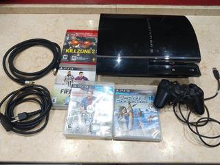 Ps3 Playstation 3 Fat + 4 Juegos Oferta