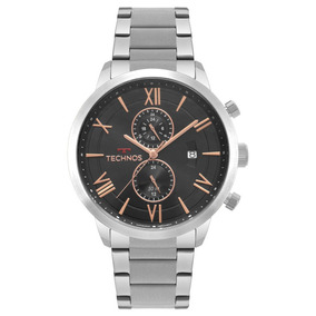 Relógio Technos Masculino Prateado Grandtech Jp11ab/1p