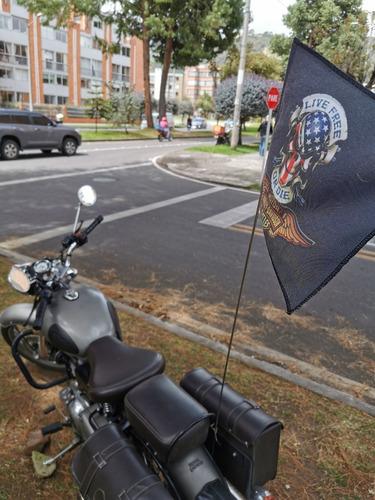 Banderines Con Asta Para Bicicletas, Motos Y Cuatrimotos